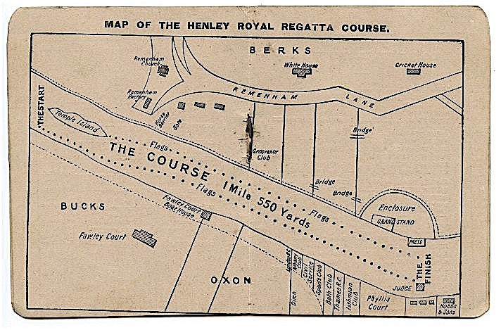 Map of the Henley Course, 1895.