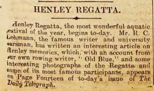 Henley Regatta notice