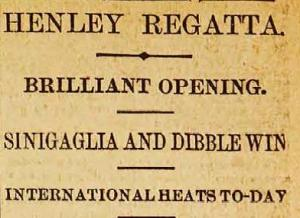 "A ""Brilliant Opening"" to the Henley Regatta is reported by ""An Old Blue"" on pages 11 and 12."