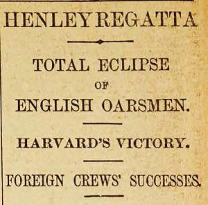 """Yesterday at Henley was a most disastrous day in the annals of British oarsmanship"" reports ""An Old Blue"" on pages 11 and 12."