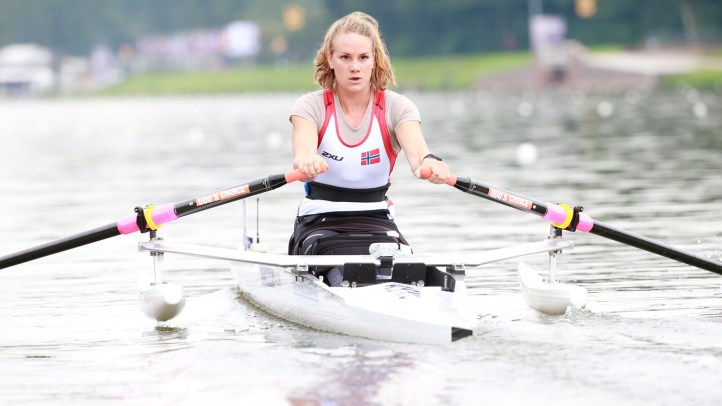 Birgit Skarstein, Norway, is a finalists for the 2014 award World Rowing Para Crew of the Year. Photo: FISA.
