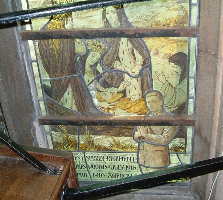A stained glass window in Radley College Chapel commemorating James Freeman ('3' in the winning Trial Fours crew of 1913) and Gilbert Whittet, a member of the 1914 VIII. © Radley College and The History of Radley in 100 Objects.