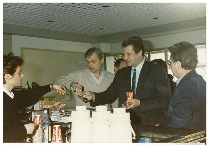 Wilfried Hofmann (DDR President), Dimitri Semionov and Leonid Drachewski (URSS board)
