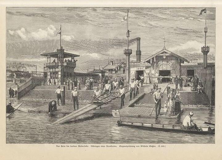 A print depicting Berliner Ruder-Club in 1885