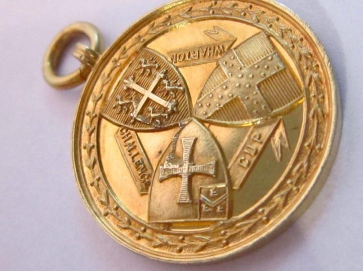 18c gold Wharton Cup medal