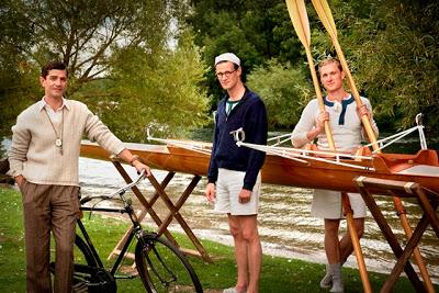 James Frain as Jack Beresford, Matt Smith as Bert Bushnell and Sam Hoare as Dickie Burnell.