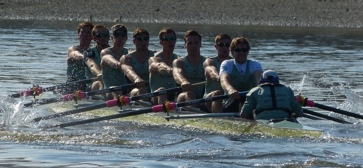 Not a lot of hard work is done in Tideway Week but here CUBC do a short burst.