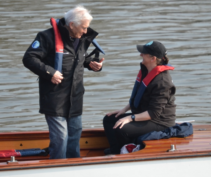 In the press launch: Chris Dodd, former rowing correspondent of the Guardian and the Independent and Rachel Quarrell of the Daily Telegraph. Rowing journalism (and the sport itself) would be considerably poorer without their varied and continuing efforts.