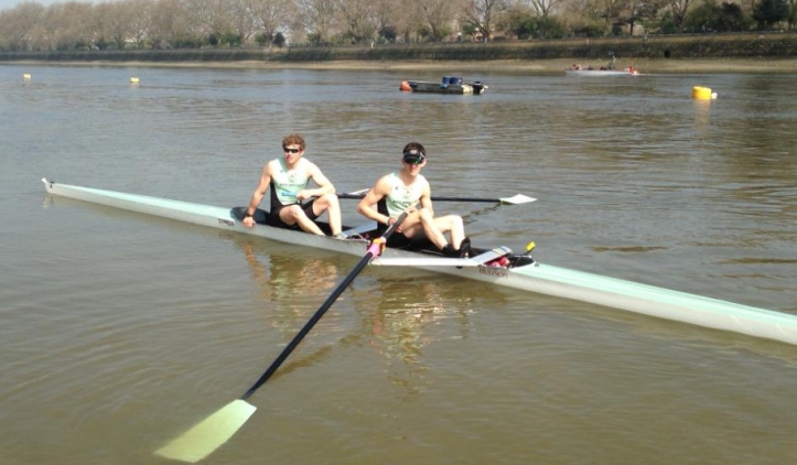 Cambridge won the 'spare pairs race' from the Mile Post to the finish. Picture: Twitter.