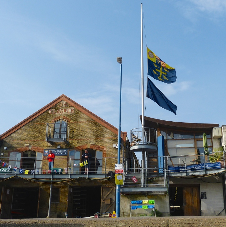 At the Oxford men's Putney base, the Westminster School boathouse, the flags of both the University and the School have been at half-mast as a mark of respect to Dan Topolski, an alumnus of both institutions.
