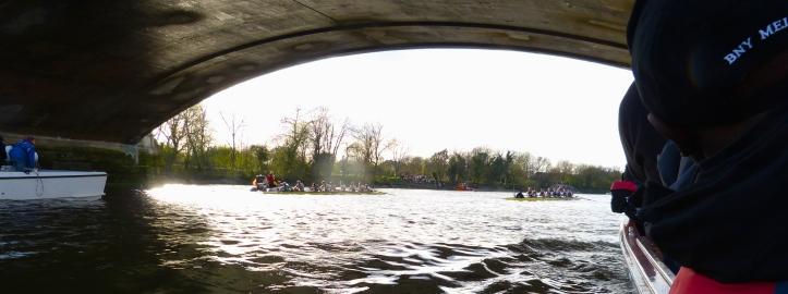 The finish at Chiswick Bridge.