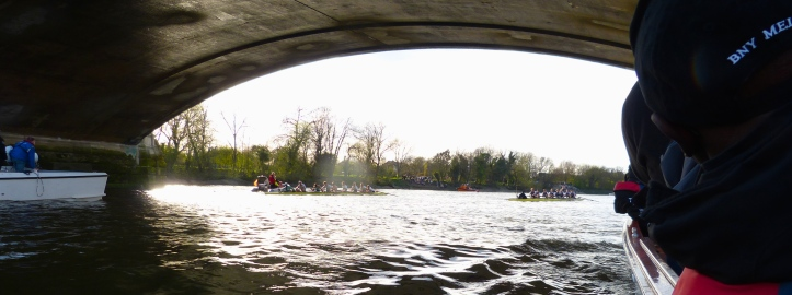 The finish at Chiswick Bridge.