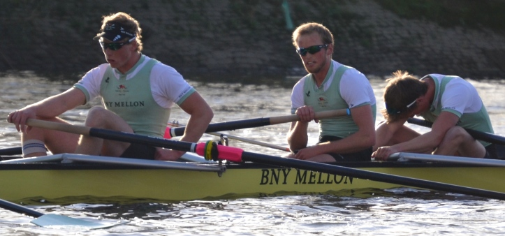 The Cambridge bow three perhaps reflect on the 'binary aspect' of the Boat Race.