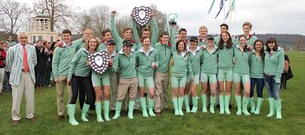 Some consolation for Cambridge. The Light Blue men's and women's lightweights both won their events at the Henley Boat Races by a few feet. They also won the men's Spare Pairs race on the Tideway. Picture: Sarah Harbour.