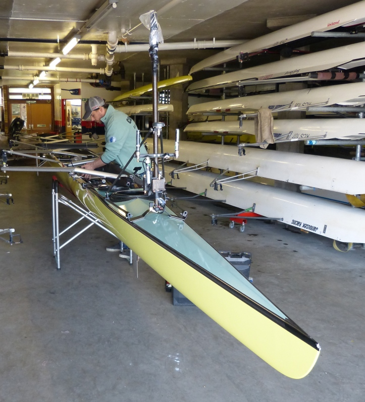 Cambridge have a new boat, but it is also in 'go faster yellow'.