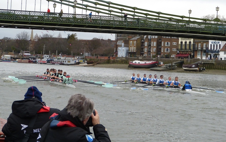 Cambridge and Imperial at Hammersmith Bridge