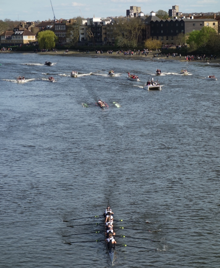 The Women's Boat Race - the finish. (HR)