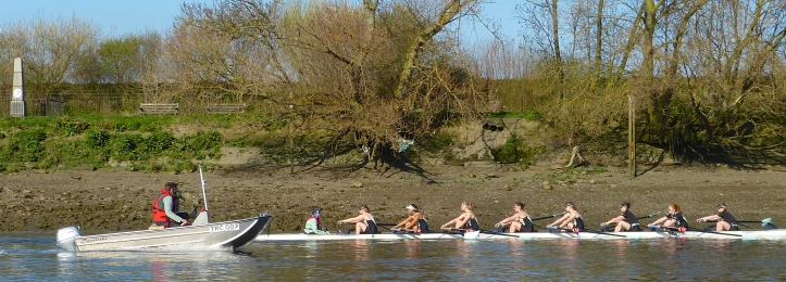 CUWBC and coach Baker pass the Mile Post.
