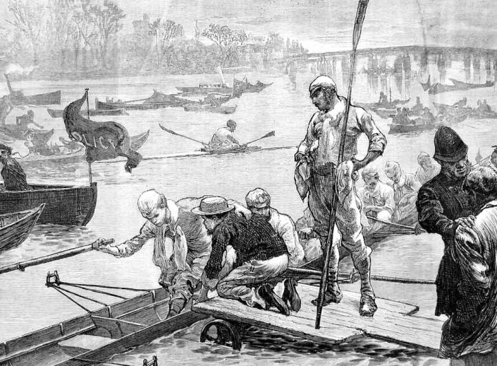 Cambridge boating, 1872.