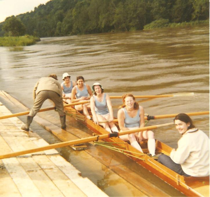 1971 crew before rowing at Pangbourne.