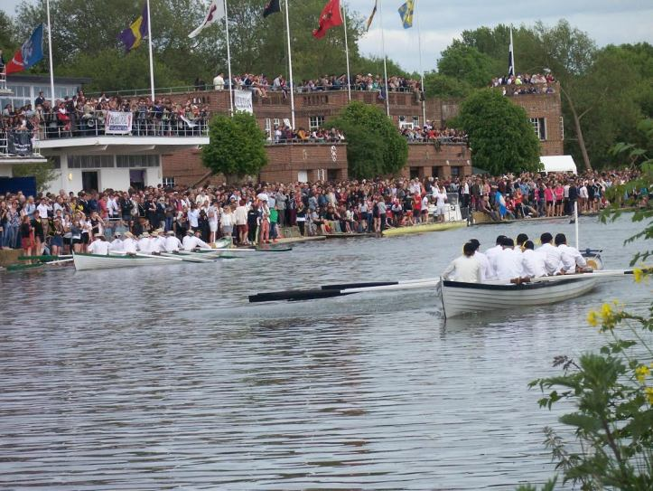 Brasenose leading Jesus at the celebratory row during the 200-year anniversary in Oxford.