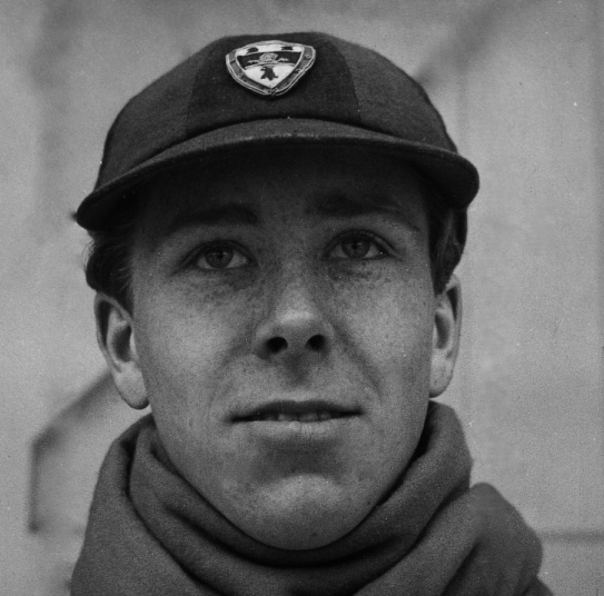 Antony ('Tony') Armstrong-Jones, later the First Earl of Snowden, in his Jesus College rowing cap