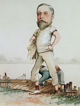 'A Rowing Type' by F.H. Manby (1880). This caricature of the increasingly portulent forty-year-old Edward was presumably some kind of humorous or political reference. I can find no evidence that he engaged in any sporting activity beyond hunting, shooting, fishing and keeping mistresses.
