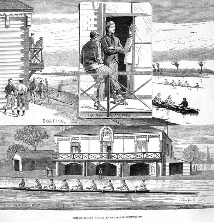 The Illustrated London News, 10 November 1883, 'Prince Albert Victor at Cambridge University'.