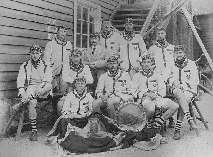 The Trinity Hall crew that won the 1897 Head of the River. Courtesy of the Master and Fellows of Trinity Hall, Cambridge University.