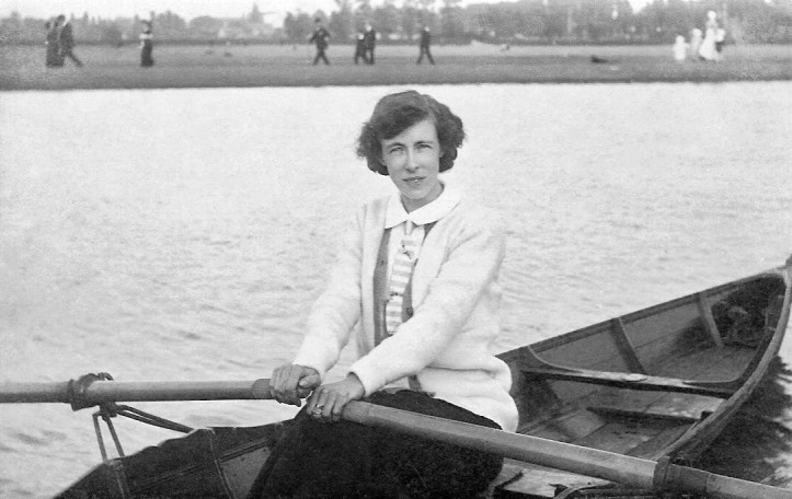 Phoebe Radley on the Lea probably circa 1913  family picture