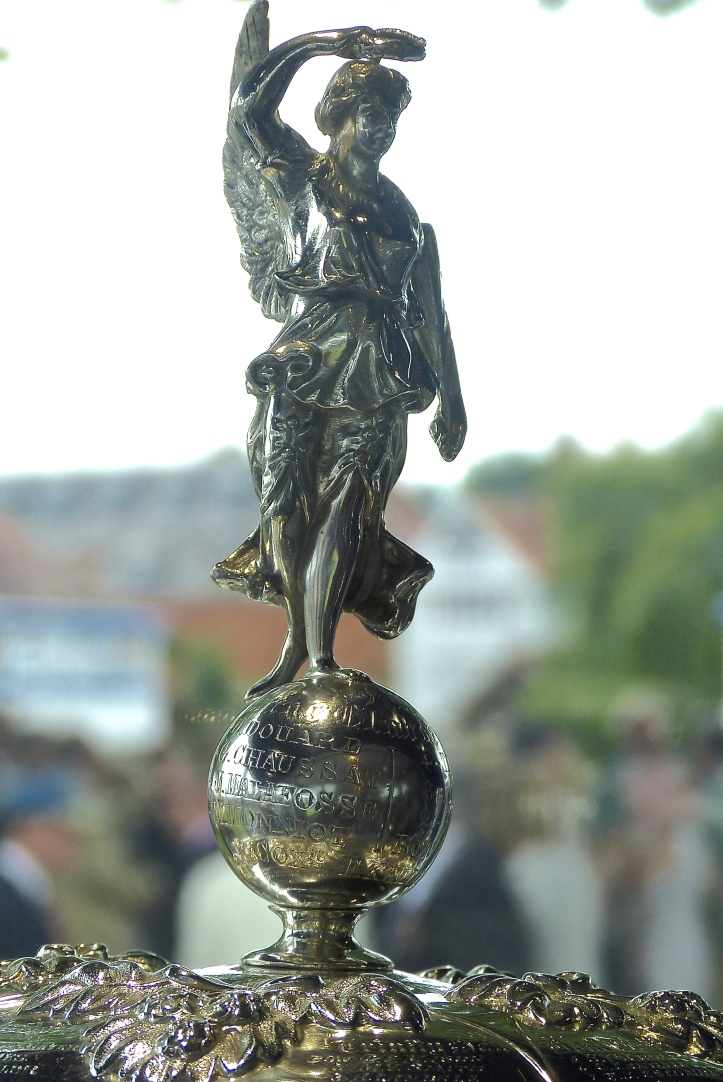Pic 1. The figure of the Winged Goddess of Victory on Henley's Thames Cup (not sponsored by Nike).
