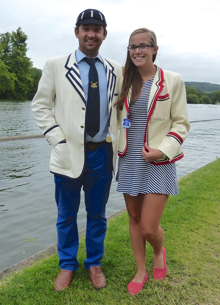 Pic 12. An unlikely couple. Steve from London Rowing Club and Sophie from arch-rivals, Thames - think Montagues and Capulets (hopefully though with a better ending).