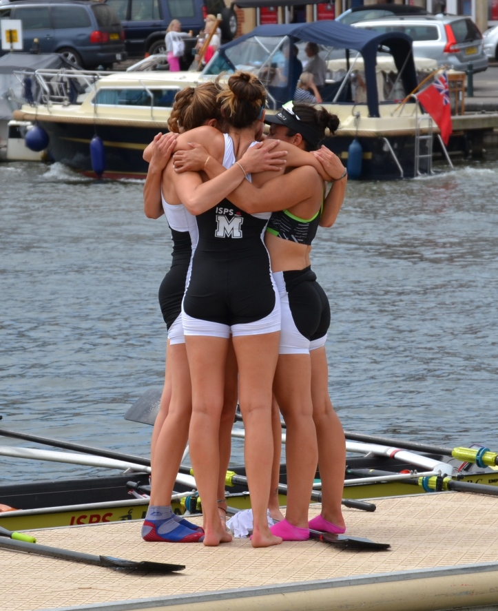 Pic 13. The defeated Molesey – no fizz but lots of hugs.
