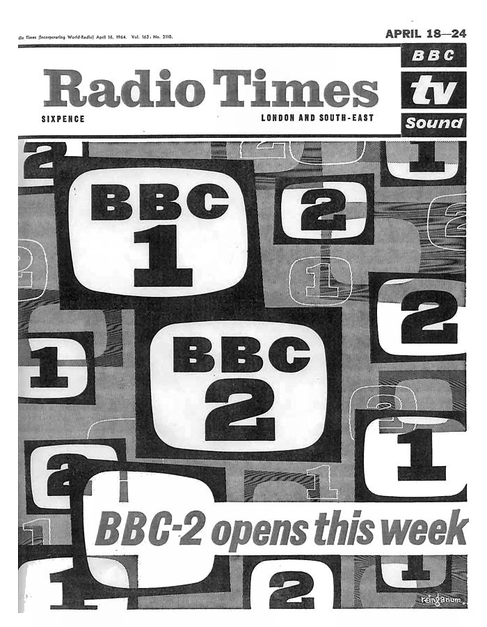 Pic 4. BBC2 started in April 1964 to cater for 'minority interests', as opposed to the 'populist' coverage of the two existing channels, ITV and, to a lesser extent, BBC1.