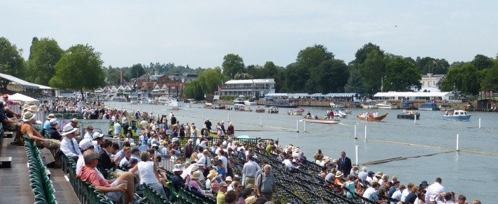 Pic 5. The view from the Regatta Enclosure into the Stewards' Enclosure.