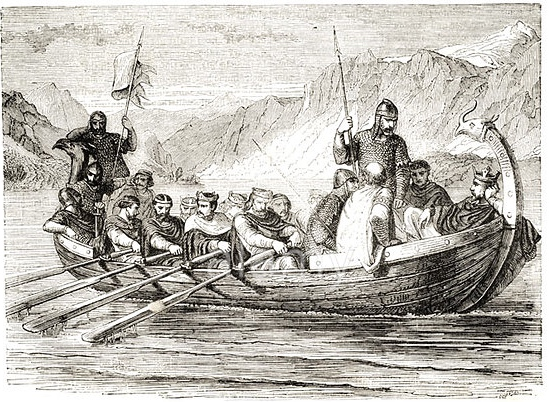 Pic 5.  In this imagining, the poor old kings have to carry nine passengers.