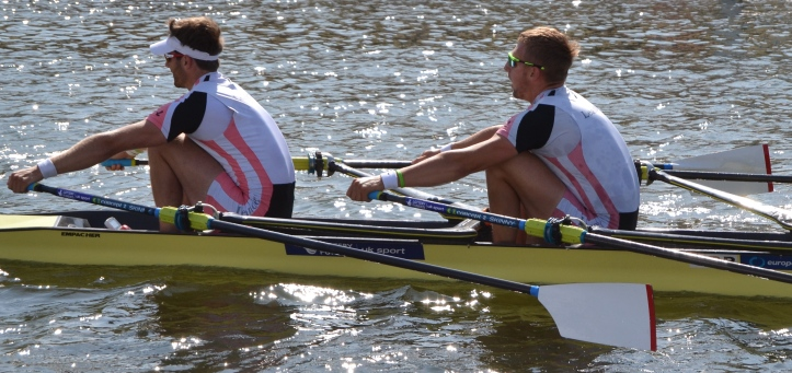 Pic 7. Collins and Walton who beat Keans and Piticariu in the Double Sculls.