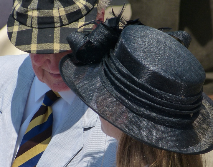 Pic 9.  The cap is from Trinity Hall but I do not know the milliner responsible for the other elegant creation.
