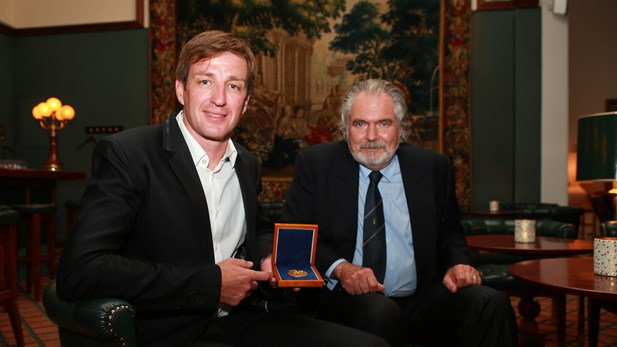 Iztok Cop and Dominik Keller at the Thomas Keller Medal Award Ceremony in Lucerne, Switzerland. © Photo: FISA.