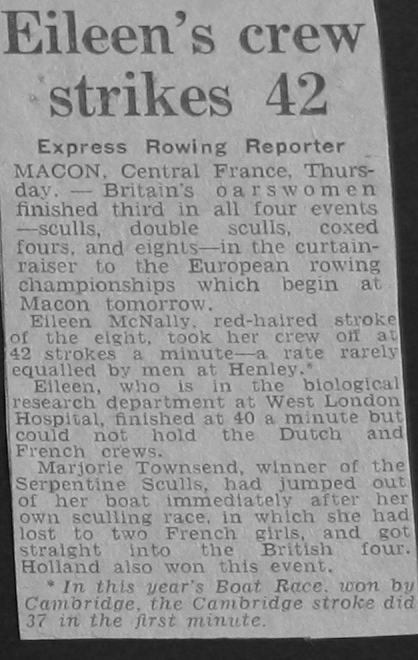 Pic: Daily Express article, August 1951: Ladies races described as curtain raisers?