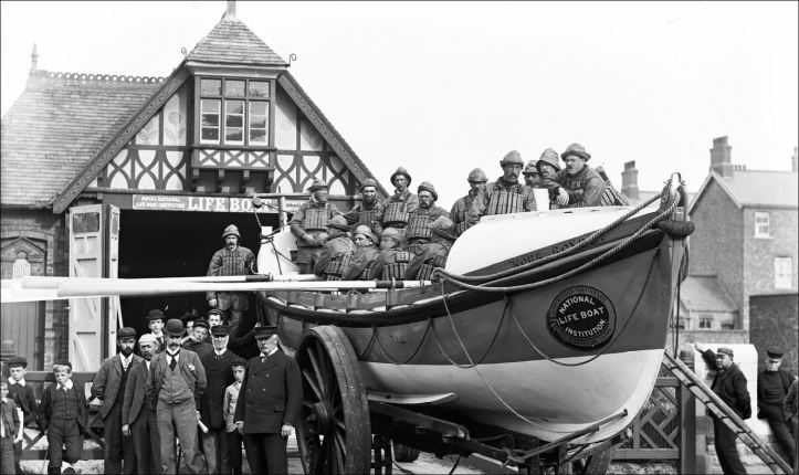 Pic 10. The St Anne's lifeboat 'Nora Royds' c.1887.