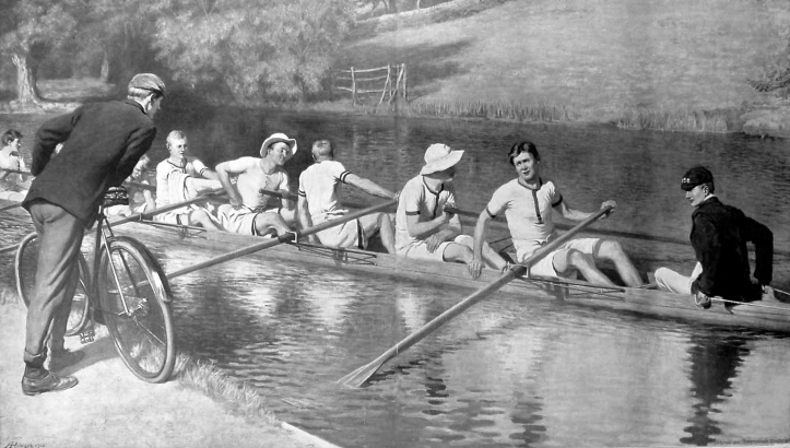 Pic 4. 'At Iffley' by Hugh Goldwin Rivière c. 1903.