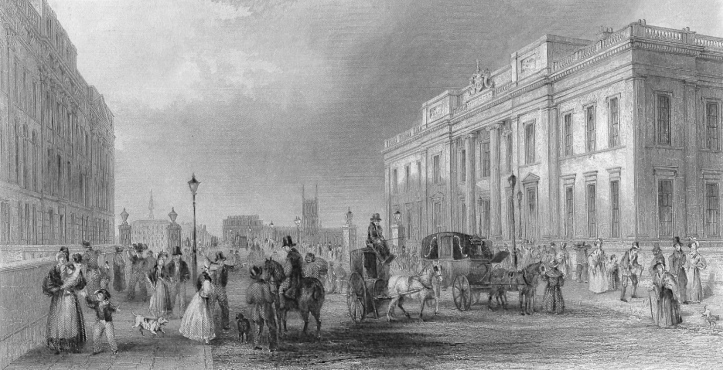 Pic 8. Fishmongers' Hall and London Bridge in 1838.