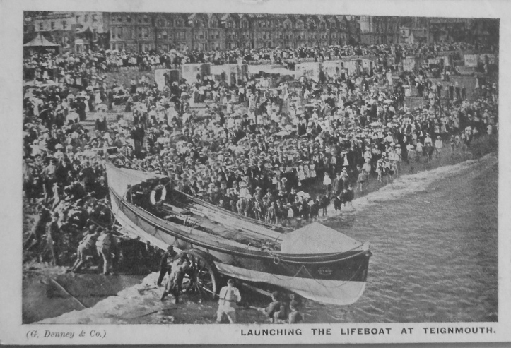 Pic 9. The lifeboat at Teignmouth goes afloat.