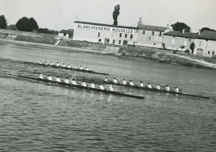 Pic: The GB crew in third place, Macon 1951. Courtesy of the River & Rowing Museum.