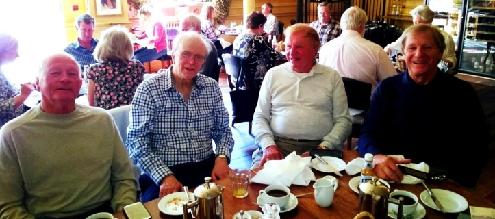 The morning after the party: Roger, Clive, Vincent and Robin Radley – our first get together since we were in our teens.