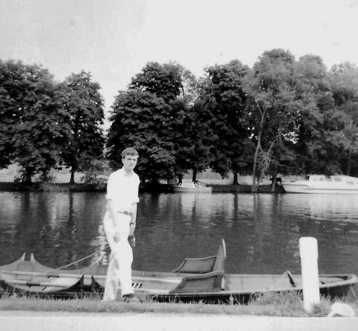 Clive at Pangbourne a few years before he was 70.
