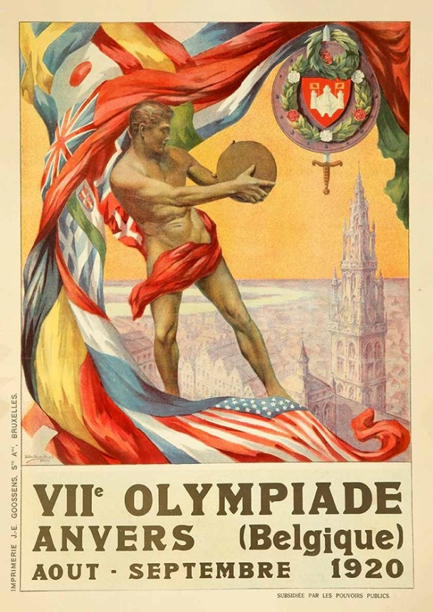 Argentum Numisma – Poster for the 1920 Games held in Antwerp.