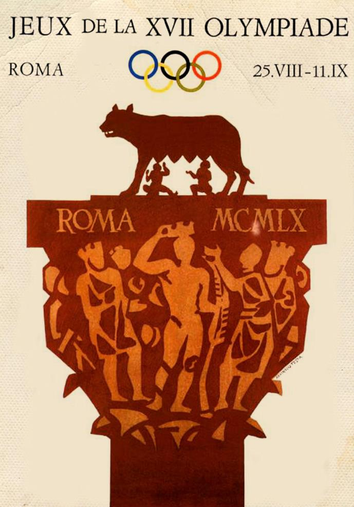 Arum Numisma – Poster for the 1960 Olympic Games held in Rome.