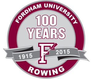 Fordham Rowing Centennial logo
